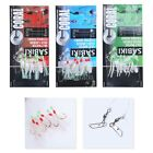 1 Pack 6 Hooks Luminous Glow Rigs Beads Baits Sea Fishing Lures Floating Tackles