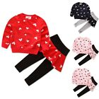 Toddler Kids Baby Girls Outfit Clothes Sweater Tops+Skirt Legging Pants 2PCS Set