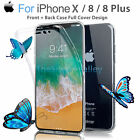 Crystal Clear Soft TPU Full Body Protective Cover Case Skin for iPhone 8 Plus X