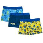 Boys Underwear Boxer Shorts 3 Pack Minions Despicable Me 3-12 Years Old