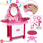 Makeup Beauty Vanity Desk Pink Dressing Table Toy Set 30 Pce Pretend Girls Kids