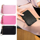 New Women Faux Leather Coin Bag Purse Change Key Chain Ring Wallet Card Holder