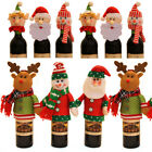 Christmas Wine Bottle Cover Bags Decoration Home Dinner Party Santa Claus  Decor