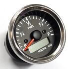 Electronic Fuel Gauge with Hourmeter Spin Lock Mounting 52mm Chrome Bezel