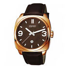 Esprit Brown Leather Strap Mens Watch ES103611004