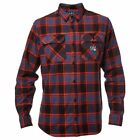 "Fox Head Racing ""Traildust"" Flannel (Midnight) Men's Moto Button Up Jacket"