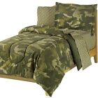 NEW Camo Comforter Set Twin Full Bed Sheets Reversible Camouflage Green Lodge