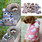 Pet Dog Puppy Warm Winter Soft Sweater Hoodie Jumpsuit Coat Clothes Outwear Xmas
