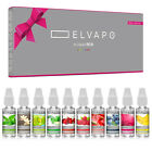 10x10ml Elvapo Premium e-Liquid-BOX (100ml) 0/3/6/9/18mg f. E-Zigarette E-Shisha