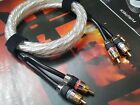 1x RCA Audio Phono Cable plug Connector hifi Copper Silver Plated Wire USA 5N