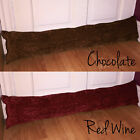 Chenille Draught Excluder Plain Fabric Door or Window Insulator Energy Saving