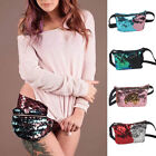 Fashion Women Fanny Pack Sequin Waist Bum Storage Bag Cosmetic Bag Belt Pouch US