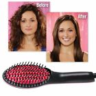 Hair Straight Electric Brush Professional LCD Fast Hair Straightener Comb NEW FF