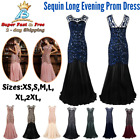 Long Evening Prom Dresses 1920s Formal Women Wedding Ball Bridesmaid Full Gown