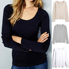 NEW EX NEXT LADIES STRETCHY COTTON LONG SLEEVE TUNIC TOP UK SIZE 16-26 PLUS SIZE