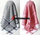Large Arab Scarf, Shemagh Keffiyeh Islamic Headscarf Red/Black