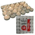 WHITE TEALIGHTS CANDLES UNSCENTED NIGHT TEA LIGHT RESTAURANT CANDLE INTERIOR