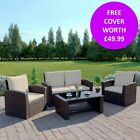 Rattan Garden Furniture Conservatory Sofa Armchair Chair Table Set Free Cover