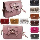 Faux Leather New Ladies Bow Adornment Small Crossbody Bag Purse