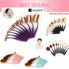 5~24Pcs Oval Cream Puff Cosmetic Pinsel Shaped Makeup Eyeshadow Beauty Brushes