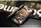 Genuine leather twisted camouflage couple protective cover for iphone x 8 7 6 5