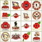 New Red Poppy Lapel Pin Enamel Badges Rifle Army Brooch Military 2017 Collection