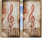 Treble Clef CURTAIN PANEL Set Music Notes Musical Living ...