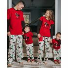 Xmas Family Matching Christmas Pajamas Set Men's Women Kids Sleepwear Nightwear