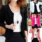 USA Candy Color Women Fashion Solid Bow Casual Suit Blazer OL Short Coat Jacket