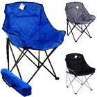 Elite Camping Chair Luxury Folding Festival Fishing Hiking Garden Directors Seat