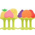 Safety Fruit Shape Baby Teether Baby Teething Toys  Silicone Teether Dental Care