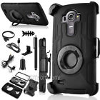 For LG G5 V10 Hybrid Rugged Shockproof Hard Protective Case Cover Bundle