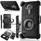 For LG G3 G4 G5 V10 Hybrid Rugged Shockproof Hard Protective Case Cover Bundle