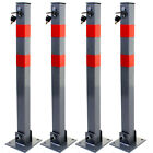 Folding Parking Barrier Car Bollard Driveway Car Vehicle Safety Security Post