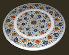ROUND 3'X3' MARBLE DINING  CORNER CENTER COFFEE TABLE TOP MOSAIC INLAY MALACHITE