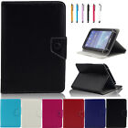 """NEW 2017 Various 7"""" Android Table Universal  PULeather Folding Folio Case USA"""