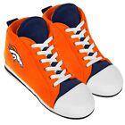 Denver Broncos High Top Sneaker SLIPPERS New - FREE U.S.A. SHIPPING
