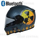 TORC T14 BUILT IN BLUETOOTH  FLAT GRAY NUKE FULL FACE MOTORCYCLE HELMET XS - XXL