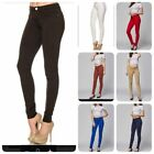 NEW Womens Soft Solid Stretchy Moleton Terry Basic Jegging Skinny Pants (S-3XL)