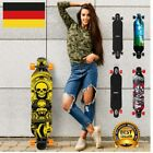 Enkeeo Longboard Komplett Skateboard Holzboard Drop-Through Board Roller Deck DE