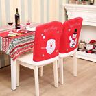 Chair Back Covers Santa Claus Snowman Chair Cover Christmas Dinner EN24H 01