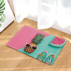Tropical pineapple with Sunglasses Bathroom Fabric Shower Curtain Set 71Inches