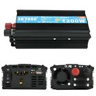 2000W/1200W/500W Car Power Inverter DC 12/24V To 110V AC Solar Converter Charger
