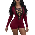US Women Ladies Clubwear Shorts Playsuit Bodycon Party Jumpsuit&Romper Trousers