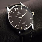 Luxury Men Big Dial Watch Leather Band Analog Quartz Business Waterproof Watches