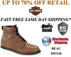 Harley Davidson D93136 Mens Beau Tan Leather Riding Motorcycle Boots