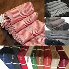 100% COTTON SOFA BED SETTEE THROW COVER CHAIR BEDSPREAD BLANKET Tasselled Edging