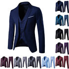 2017 New Men's Formal Wedding Dress Suits Slim Fit Tuxedo Jacket+Vest+Pant