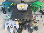 Video Games - N64 NINTENDO 64 CONSOLE + CONTROLLERS + BONUS OFFER- SUPER MARIO KART SMASH BROS