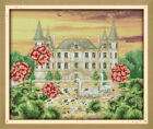 "Joy Sunday The Swan Castle Counted Cross Stitch Kit 15"" X 13"" 14 Count Fabric"